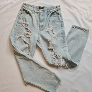 Badot distressed jeans high waisted faded blue